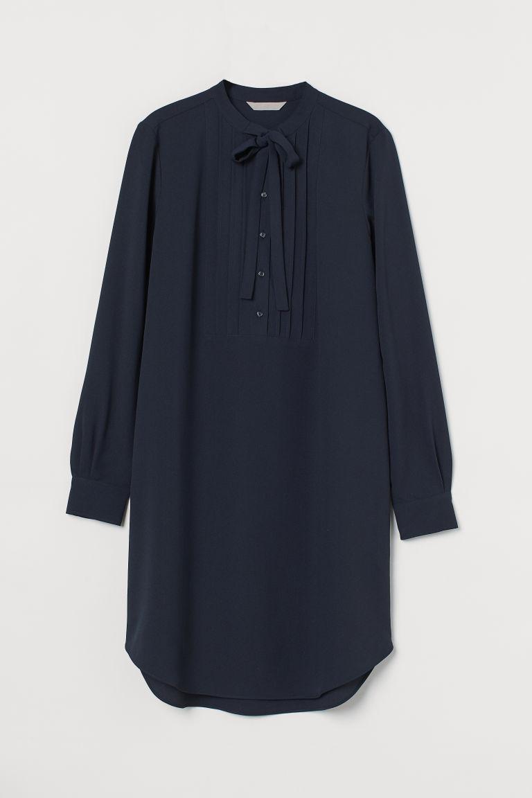 H & M - 圓兜領洋裝 - 藍色