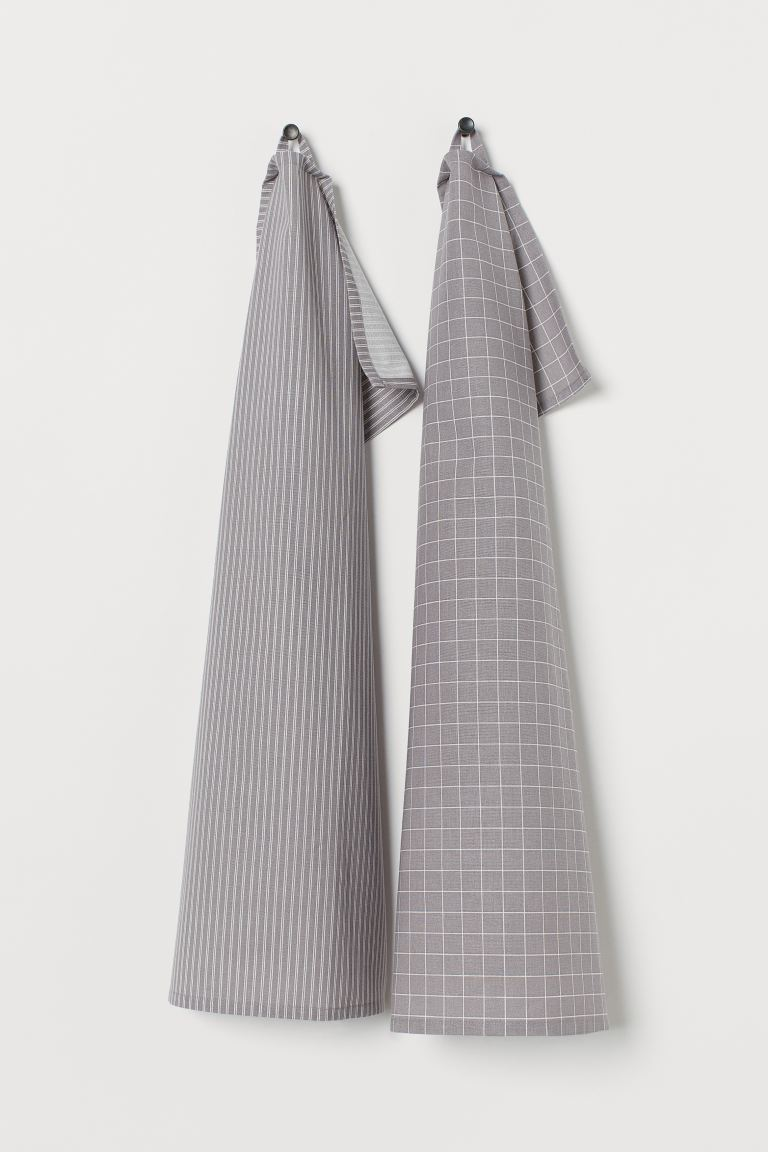 2-pack Tea Towels - Gray - Home All | H&M US
