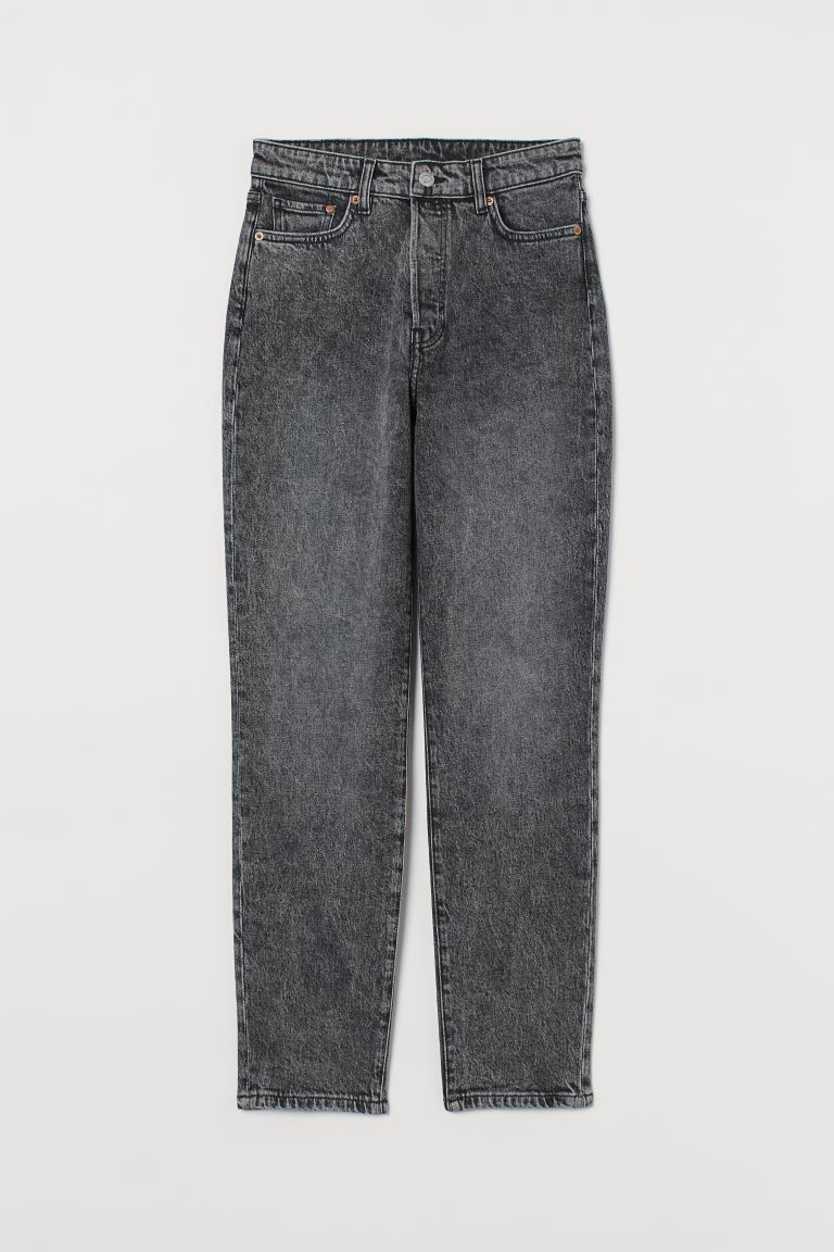 Mom High Ankle Jeans - Cinzento - SENHORA | H&M PT