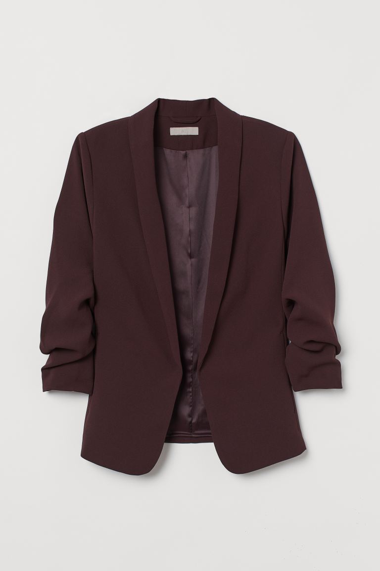 Shawl collar jacket - Burgundy - Ladies | H&M