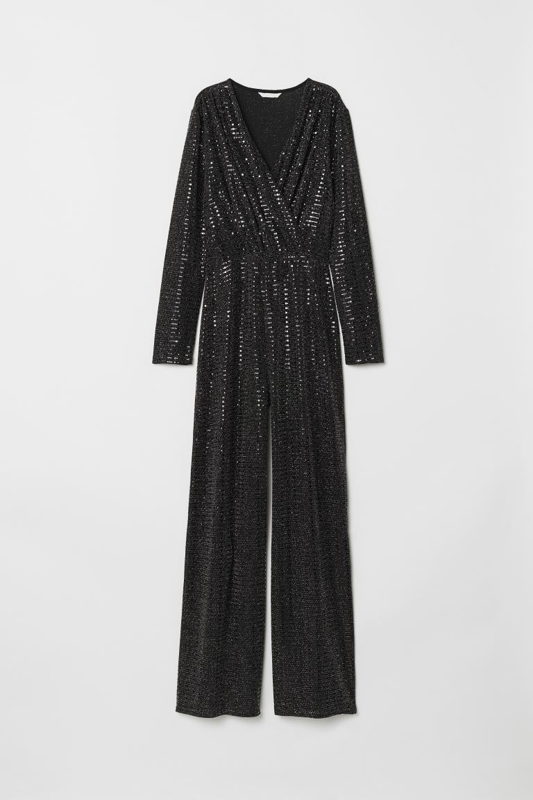 Glittery Jumpsuit - Black - Ladies | H&M CA