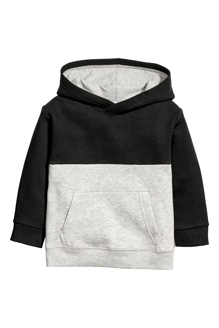 Hooded top - Black/Block-coloured - Kids | H&M