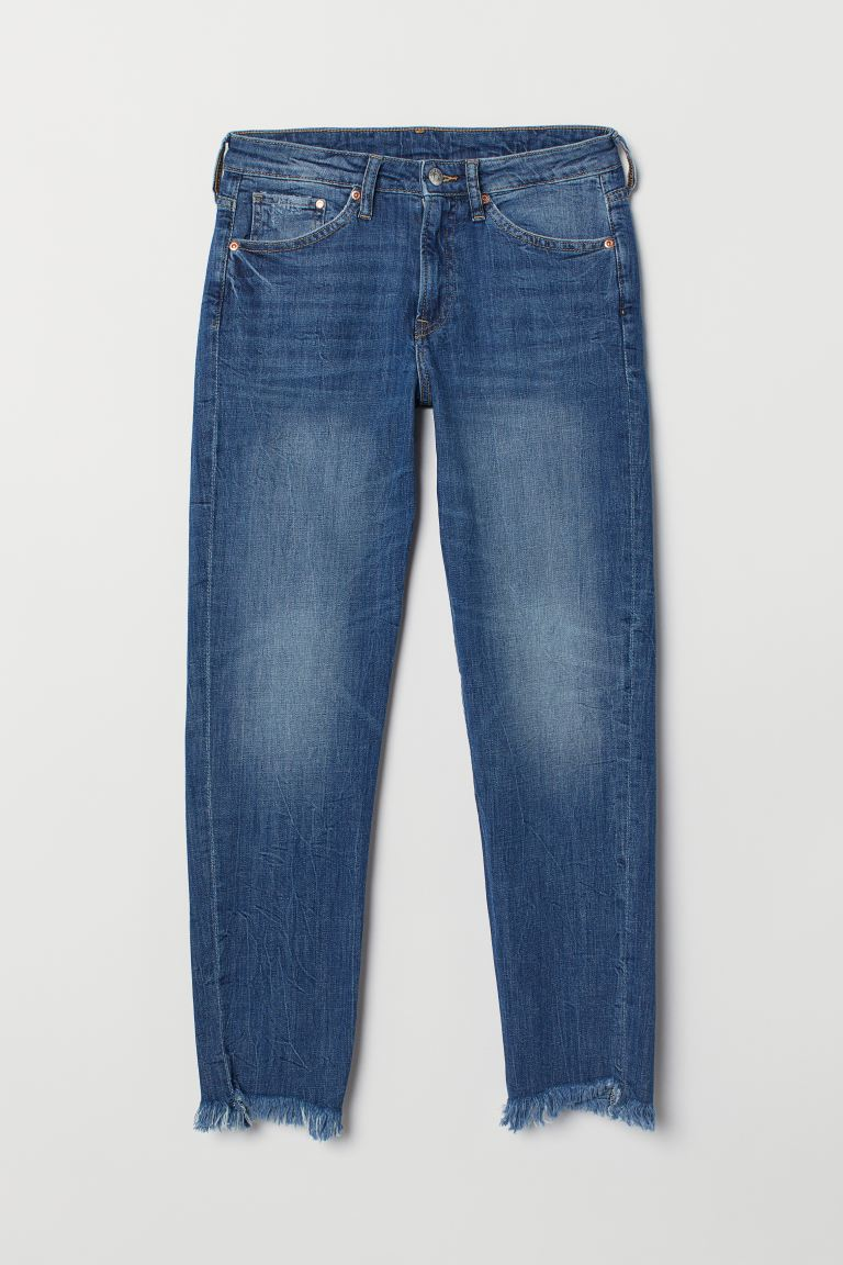 Girlfriend Regular Ankle Jeans - Azul denim - MUJER | H&M ES