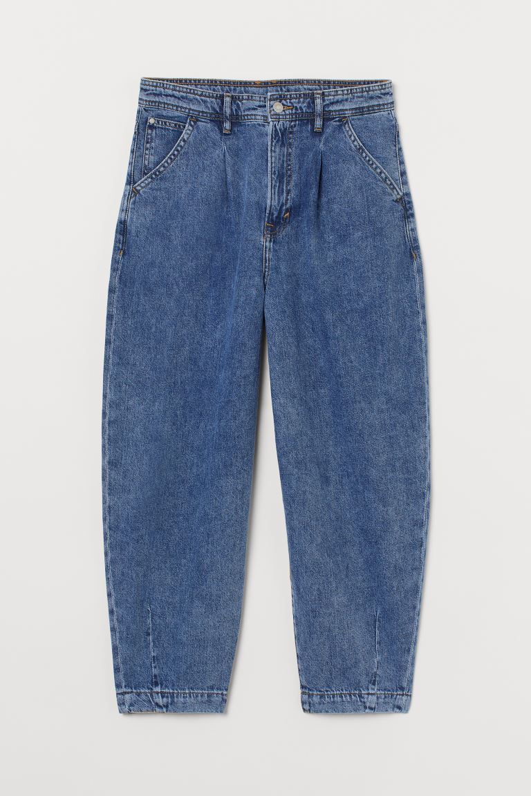 Balloon Ultra High Ankle Jeans - Azul denim - MUJER | H&M ES