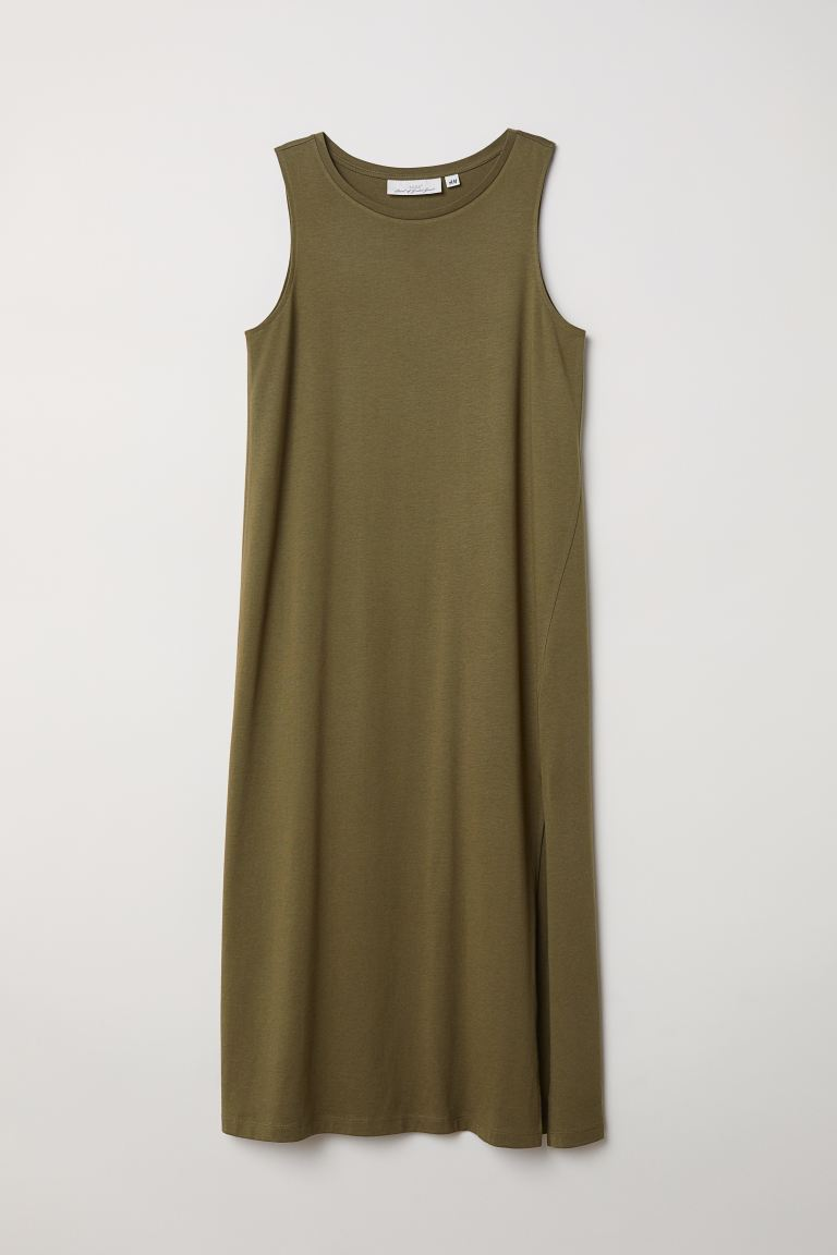 Vest dress - Khaki green - Ladies | H&M GB