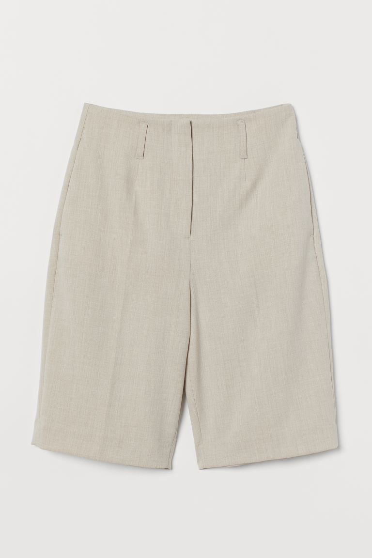 Knee-length shorts - Light beige - Ladies | H&M GB