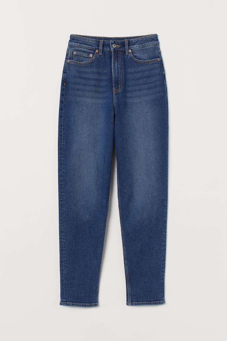 Mom High Ankle Jeans - Blue - Ladies | H&M AU