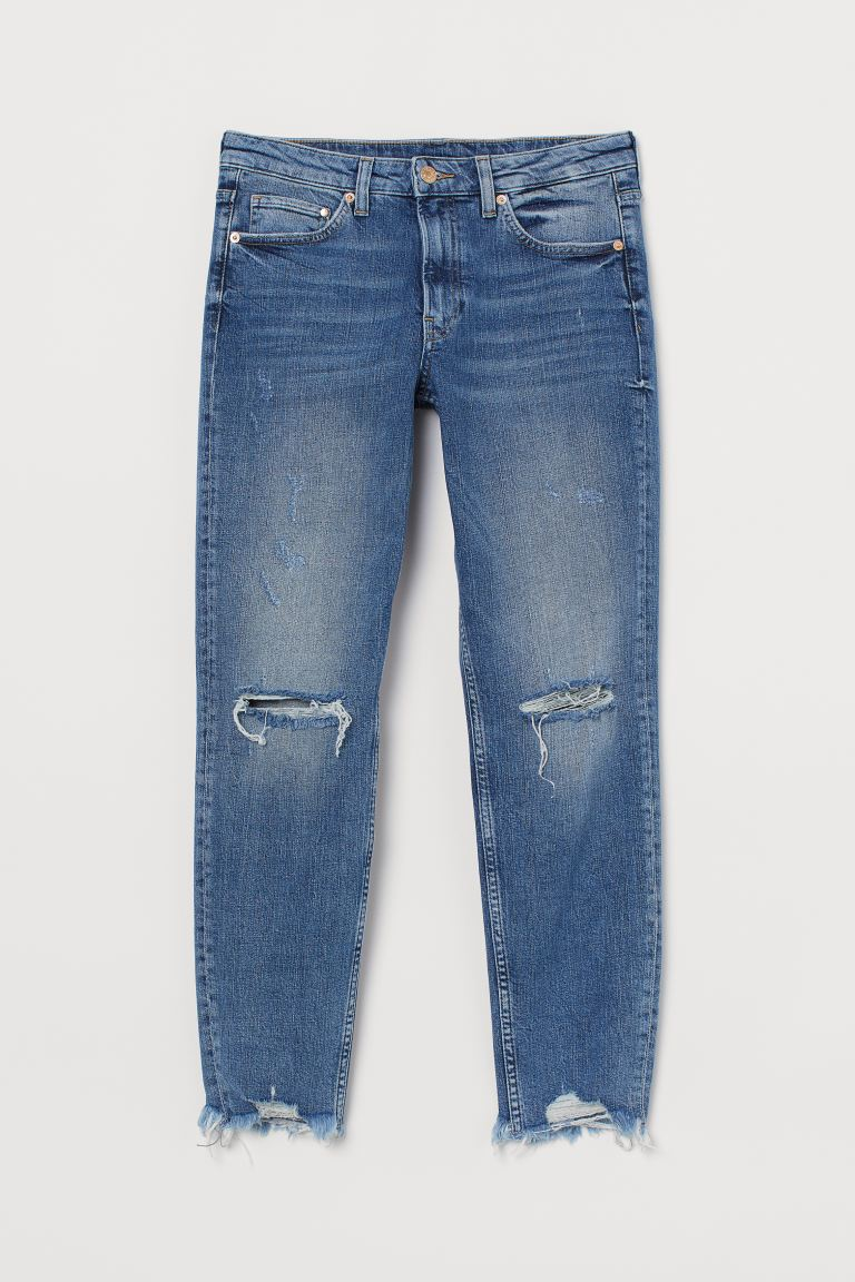 Girlfriend Regular Jeans - Azul denim - SENHORA | H&M PT