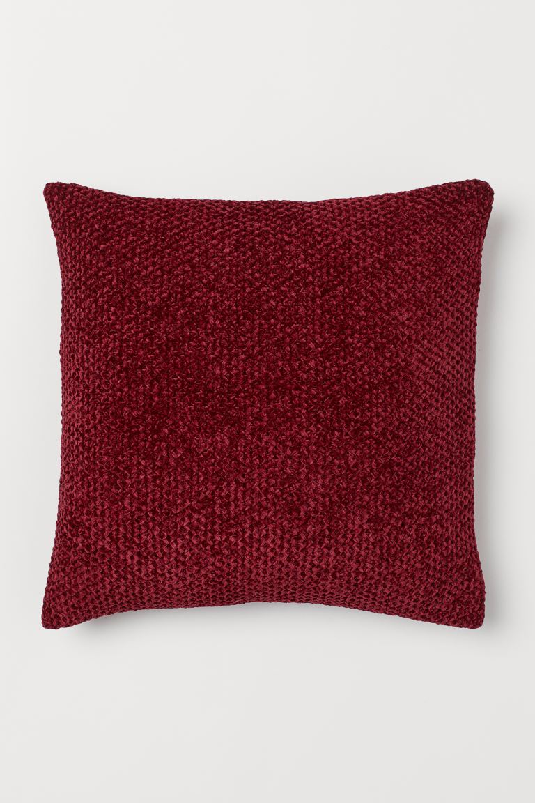 Chenille Cushion Cover - Dark red - Home All | H&M US