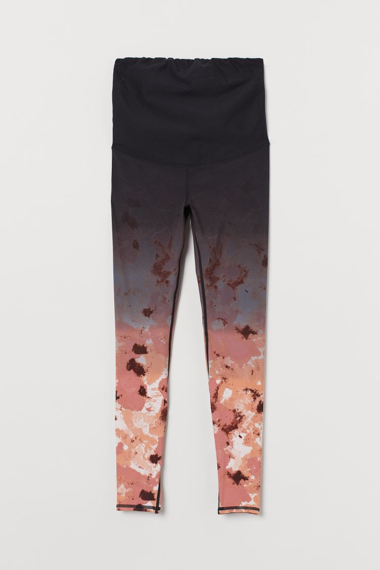 MAMA Sports tights - Black/Old rose - Ladies | H&M GB