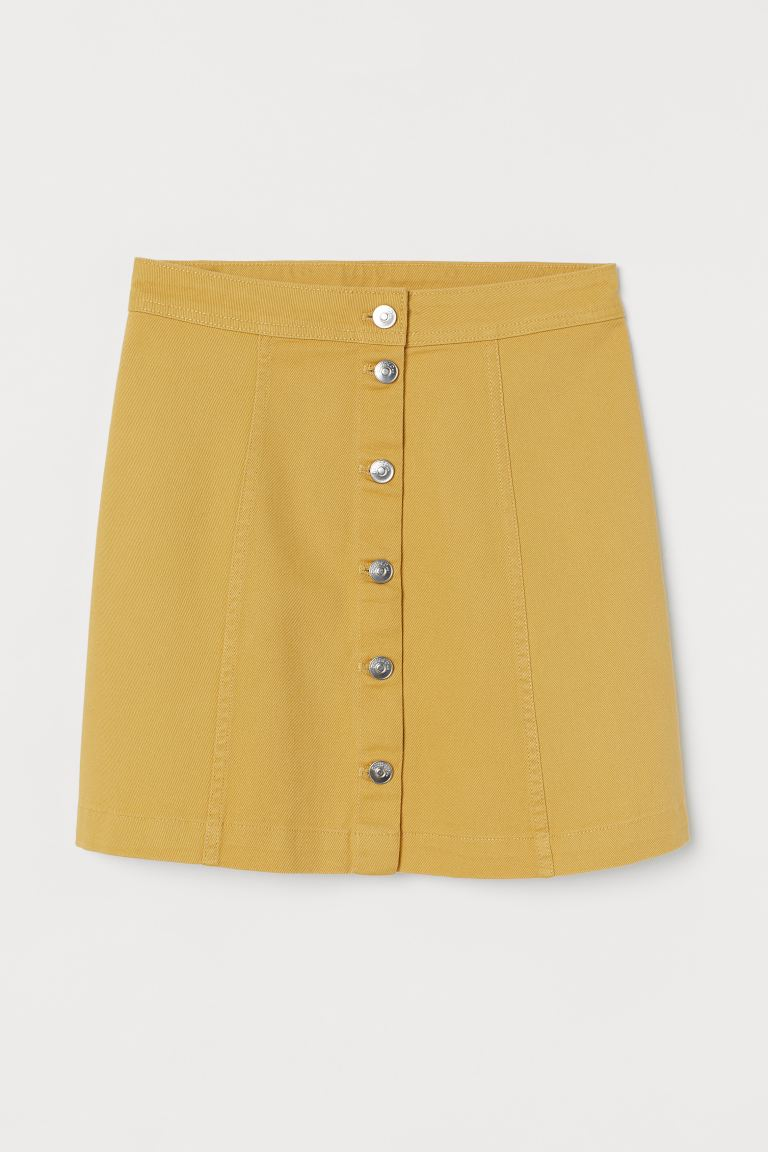 A-line Skirt - Dark yellow - Ladies | H&M AU