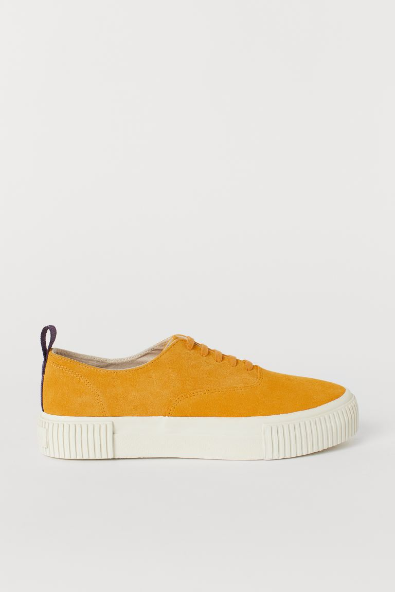 Suede Sneakers - Yellow - Men | H&M US