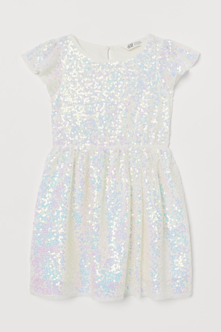 Tulle dress with sequins