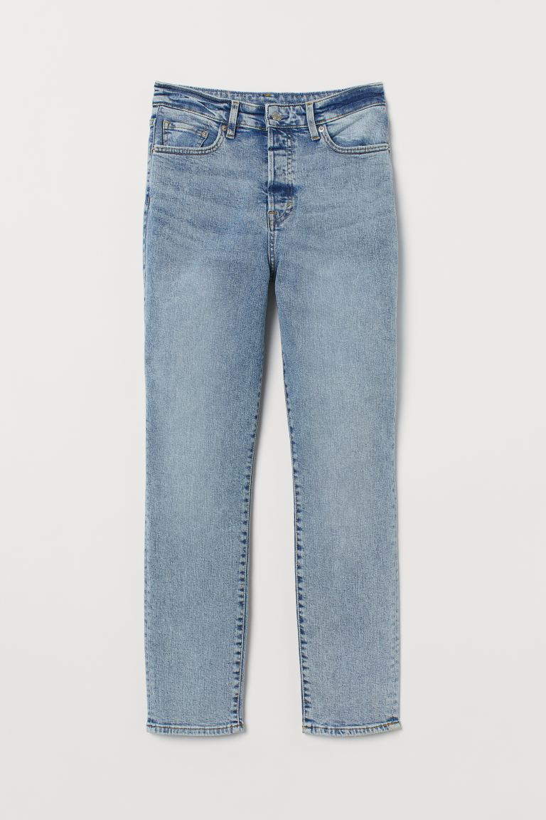 Mom High Ankle Jeans - Azul denim claro - MUJER | H&M ES