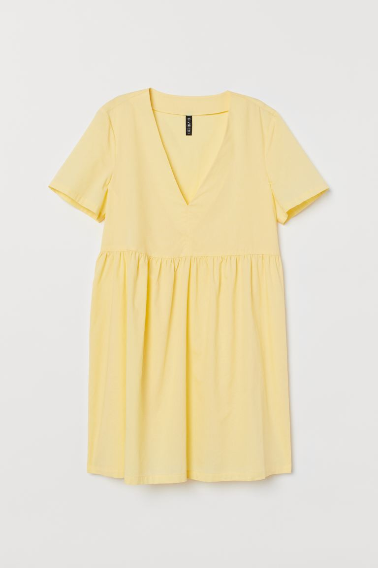 Cotton Dress - Light yellow - Ladies | H&M US