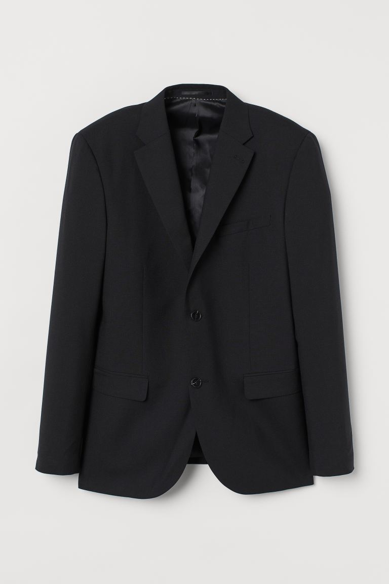 Wollen blazer – Slim Fit - Zwart - HEREN | H&M BE