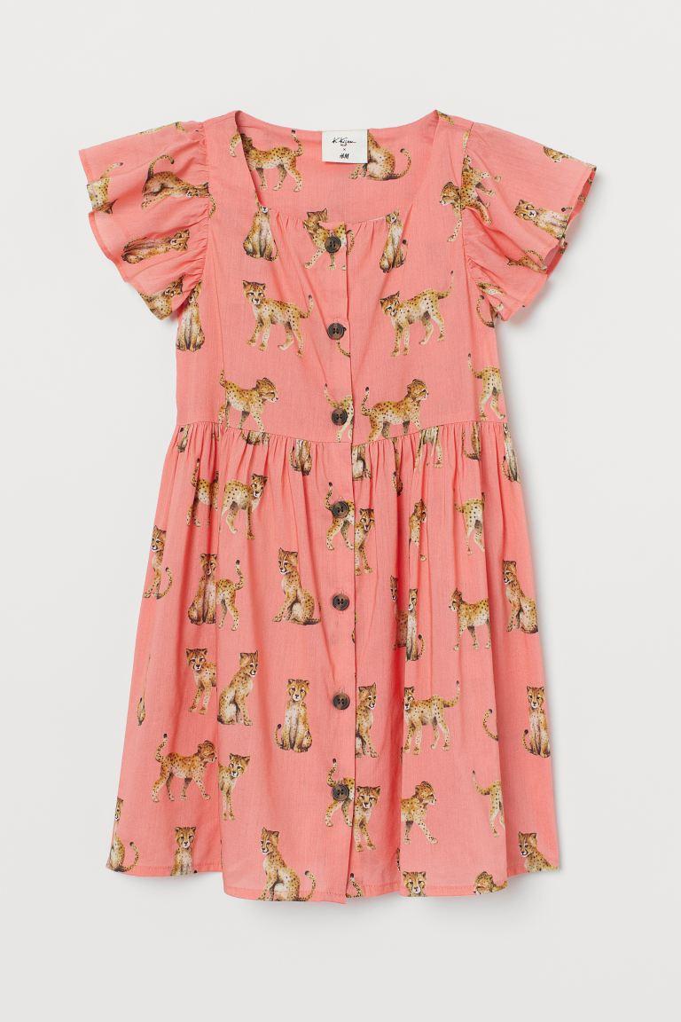 Patterned modal-blend dress