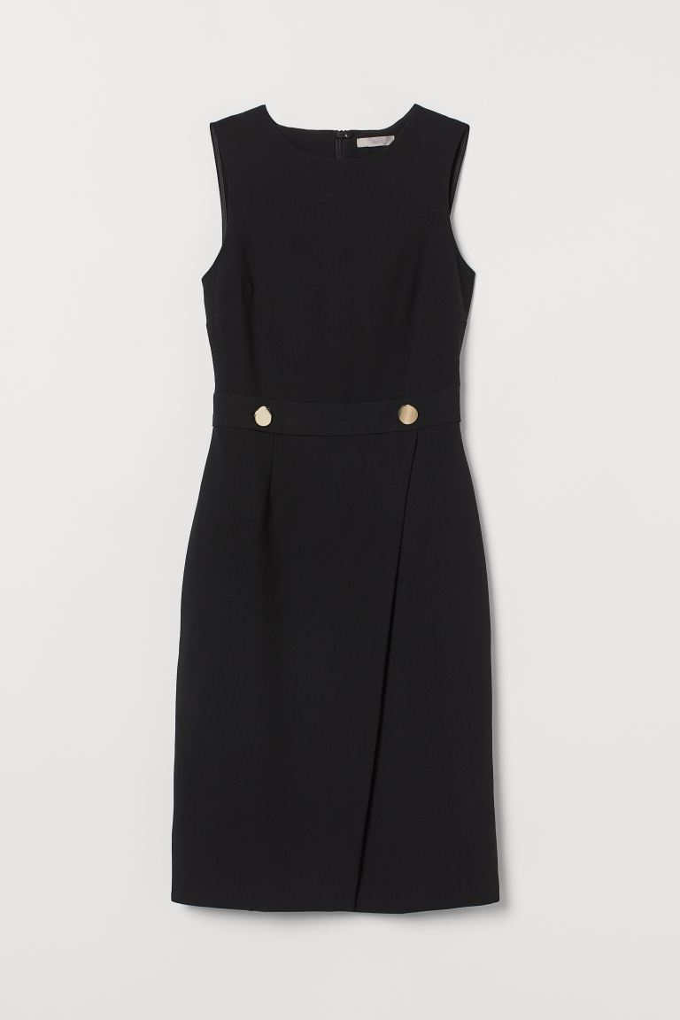 Fitted dress - Black - Ladies | H&M