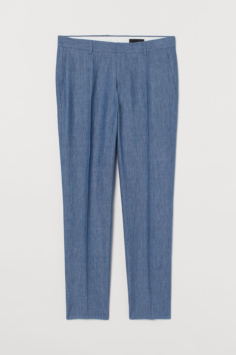 Pantalon de costume Slim Fit - Bleu chiné - HOMME | H&M BE