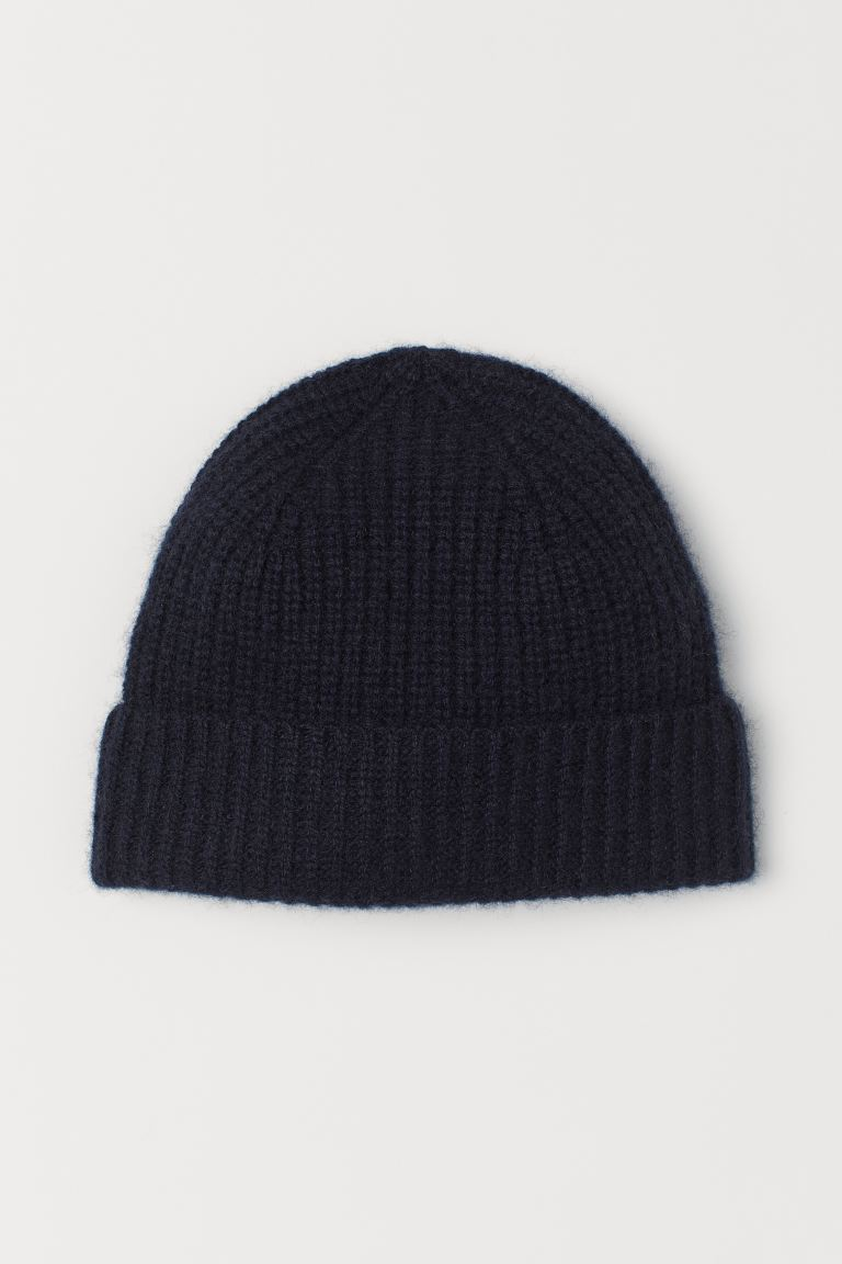 Cashmere Hat - Dark blue - Men | H&M US