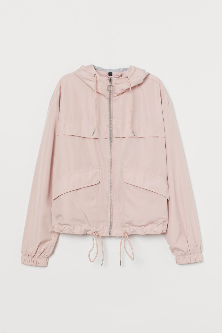 Hooded Jacket - Powder pink - Ladies | H&M US