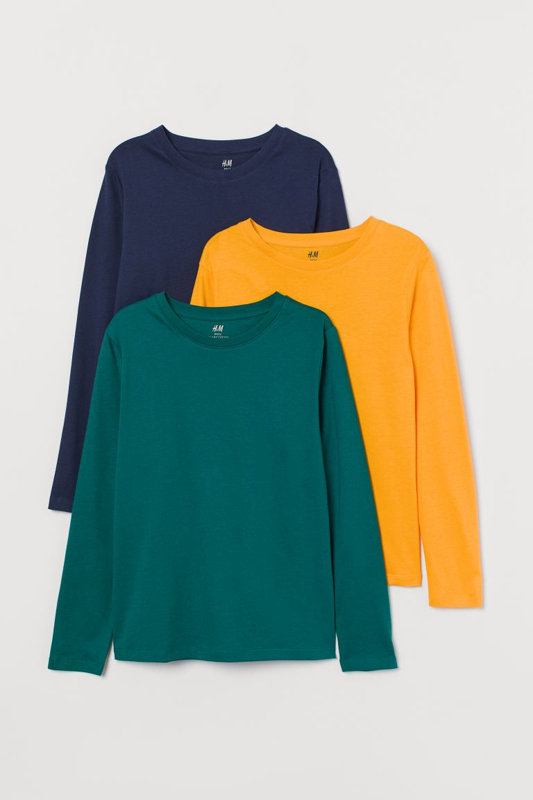 3-pack jersey tops - Yellow - Kids | H&M