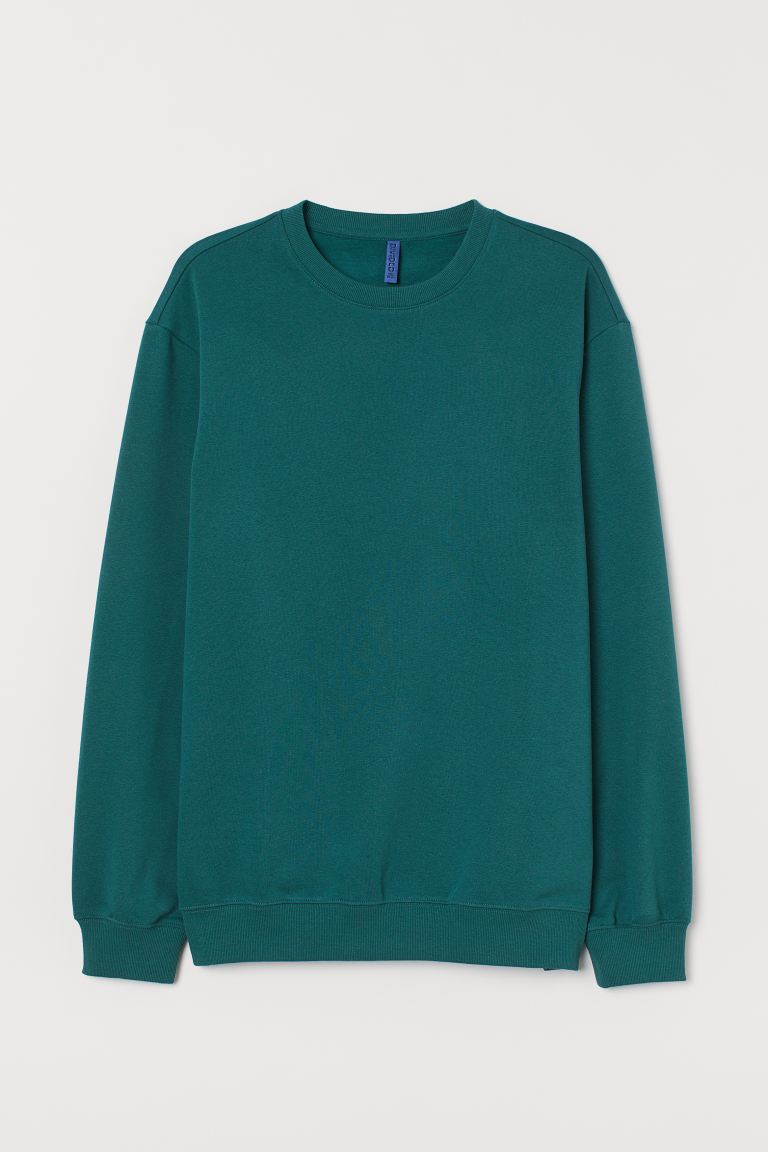 Sudadera Relaxed Fit - Verde oscuro - Men | H&M US