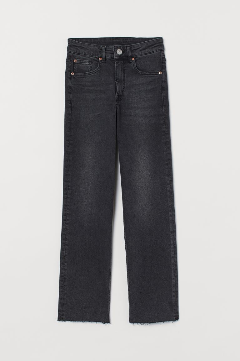 Straight High Ankle Jeans - Grigio scuro - DONNA | H&M CH