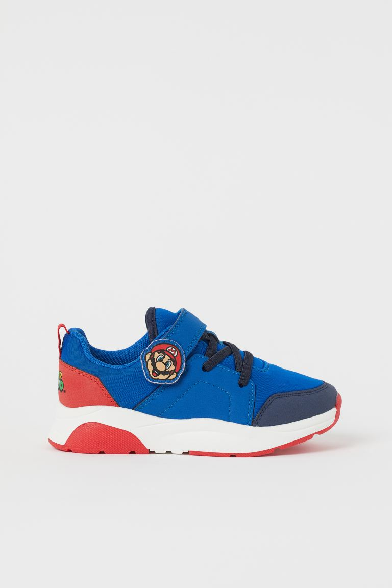 Printed trainers - Bright blue/Super Mario - Kids | H&M GB