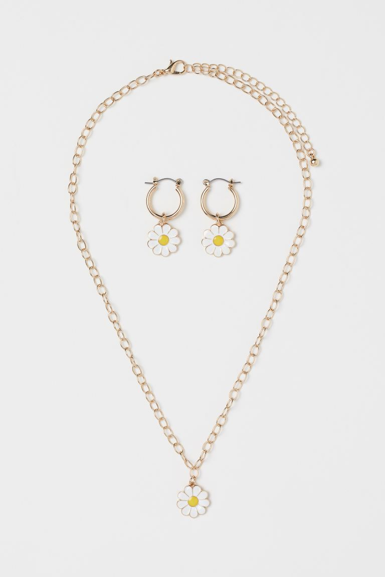 Jewelry Set - Gold-colored/To All the Boys - Ladies | H&M US