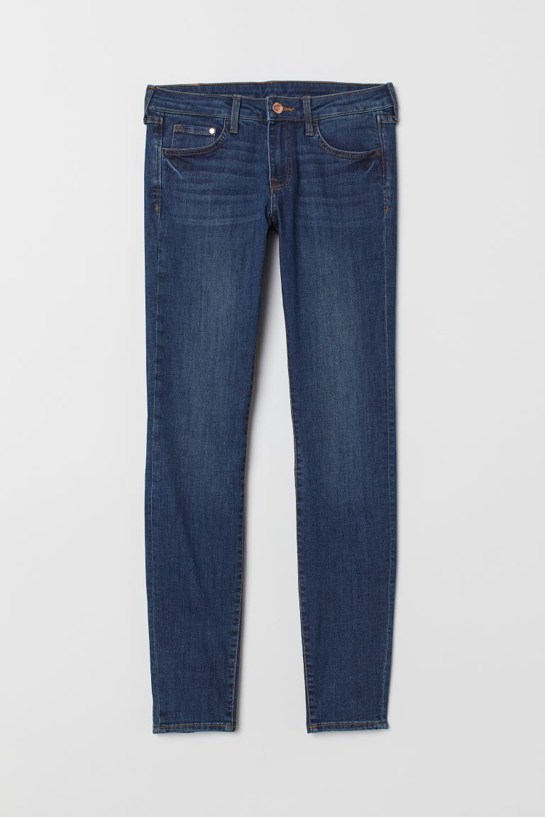 Super Skinny Low Jeans - Dark denim blue - Ladies | H&M US