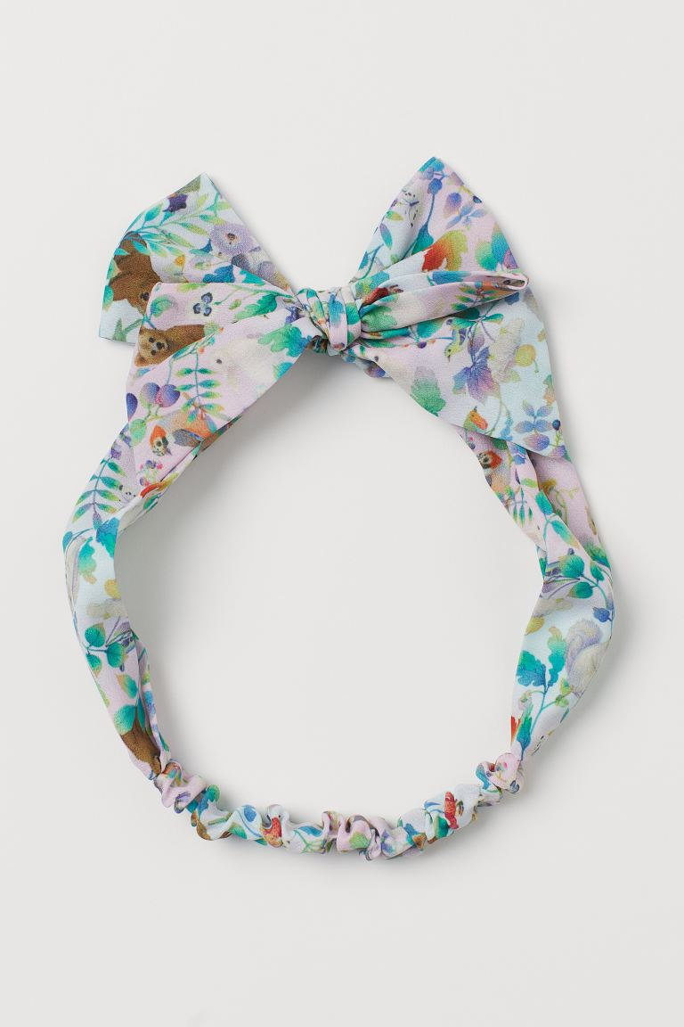 Patterned hairband - Light purple/Forest animals -  | H&M