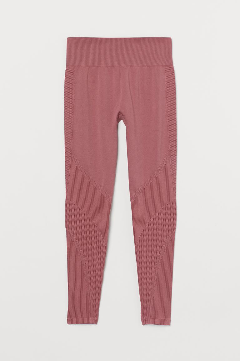 Seamless Sports Leggings - Vintage pink - Ladies | H&M US