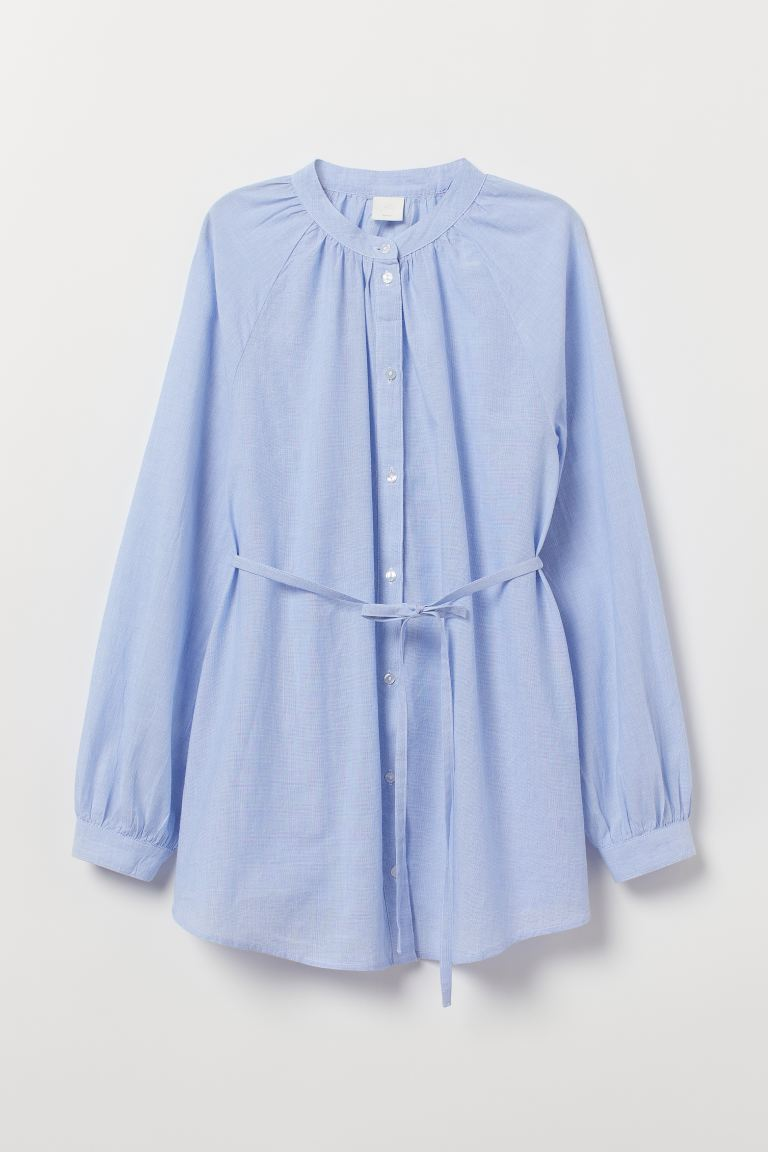 MAMA Cotton blouse - Light blue - Ladies | H&M GB