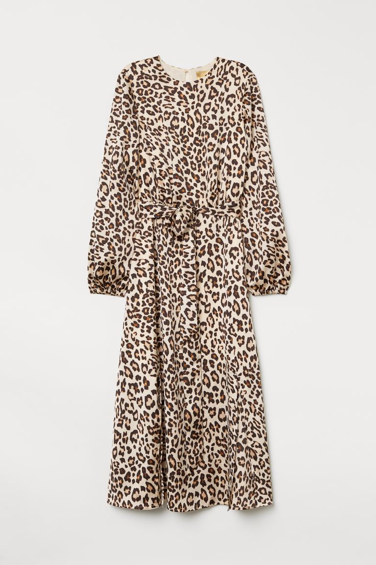 Patterned Dress - Beige/leopard print - Ladies | H&M US
