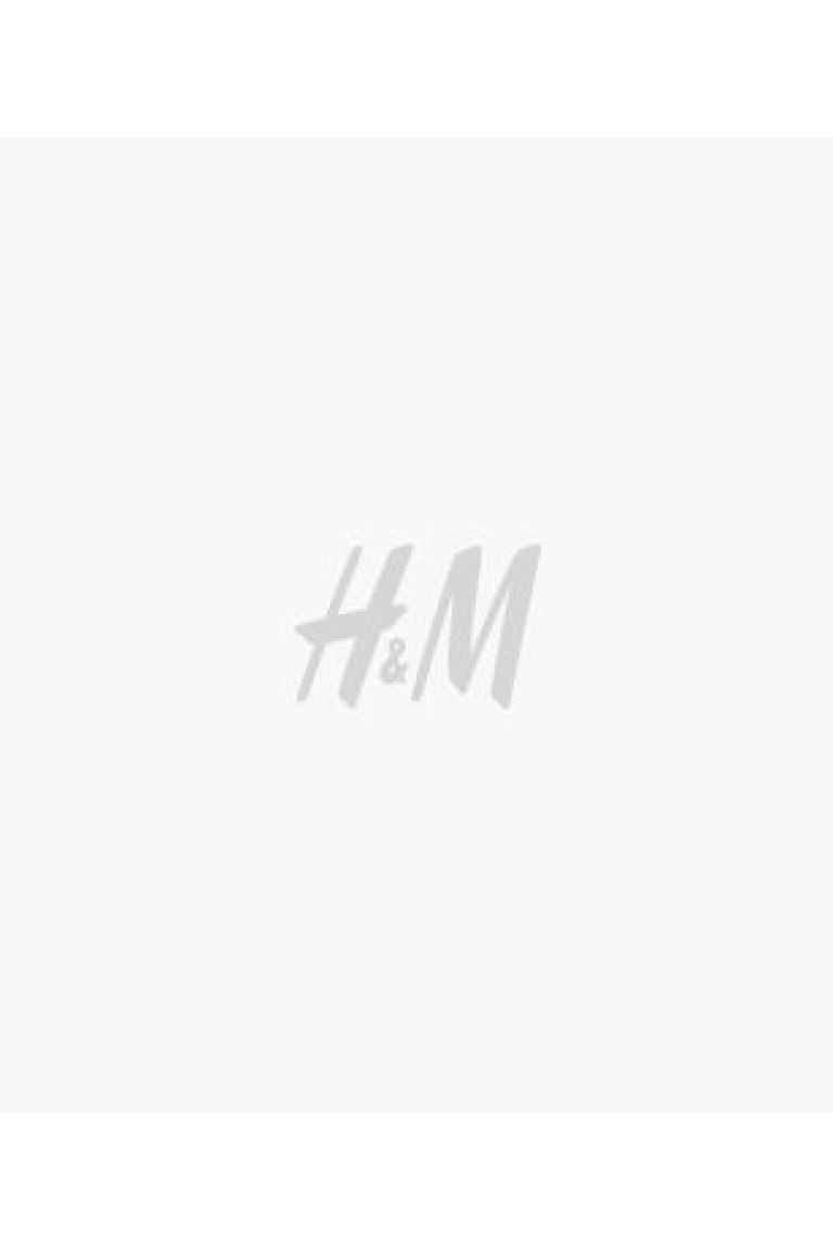 Fine-knit polo-neck jumper - Black/White striped - Ladies | H&M