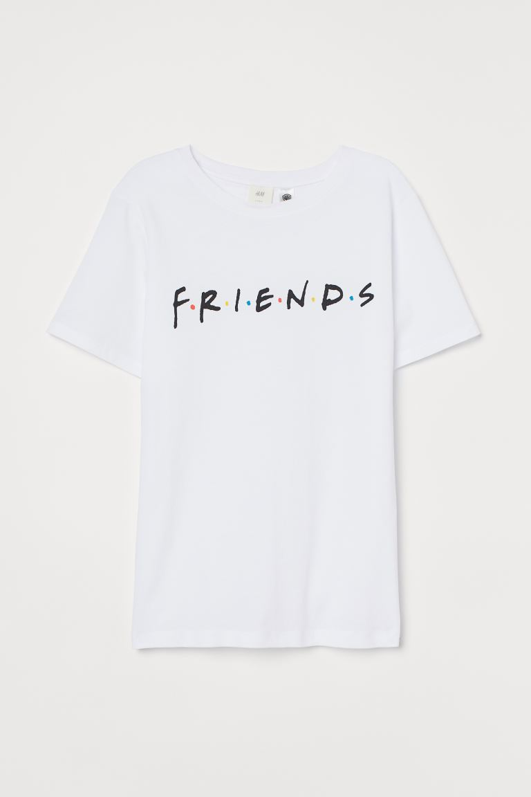 T-shirt with Motif - White - Ladies | H&M US