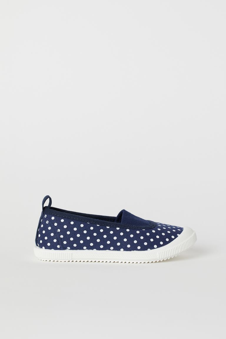 Patterned Slip-on Shoes - Dark blue/dotted - Kids | H&M US