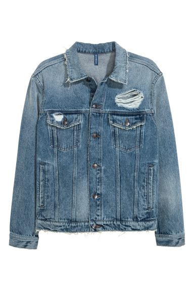 Denim jacket - Denim blue/New York - Men | H&M GB