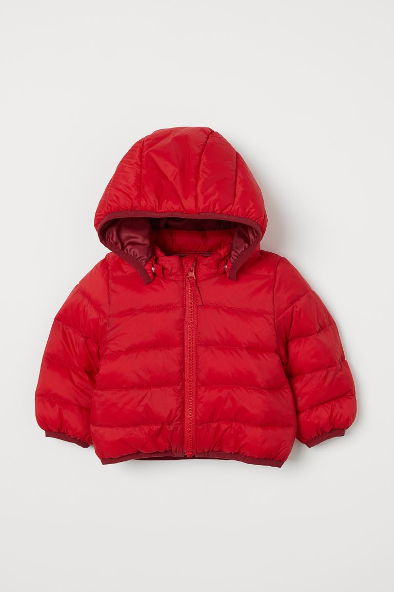 Padded lightweight jacket - Red - Kids | H&M CN