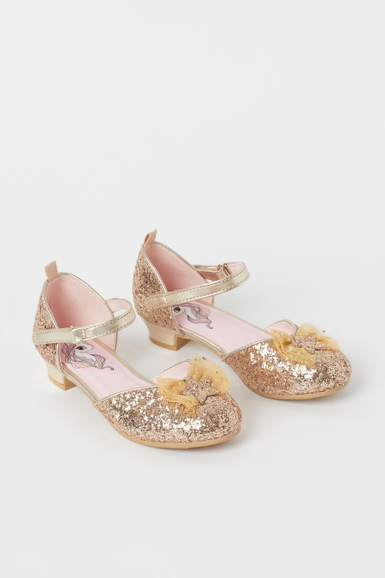 Glittery Dress-up Shoes - Gold-colored - Kids | H&M US