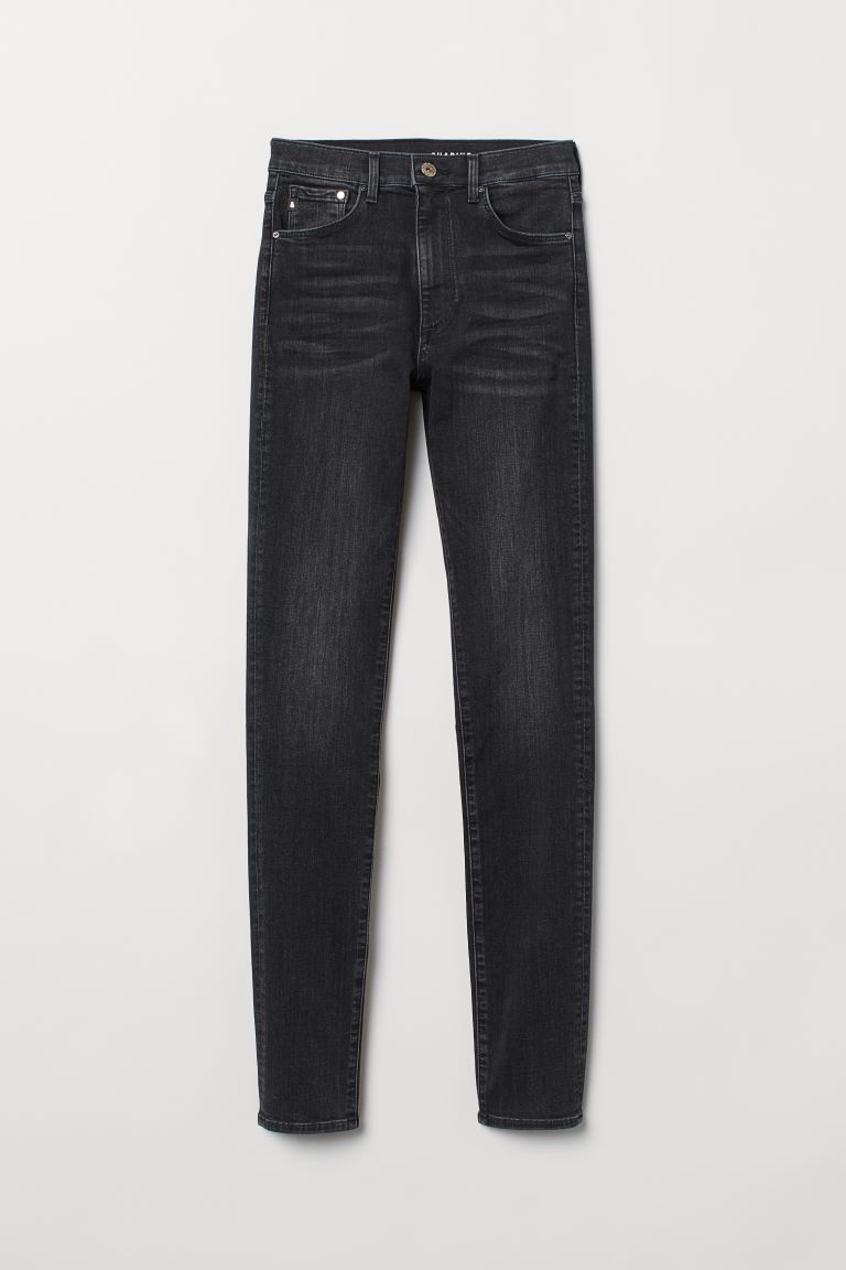 Shaping Skinny High Jeans - Preto washed out - SENHORA | H&M PT