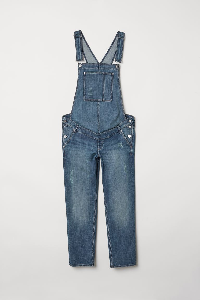 Mama Denim Overalls Denim Blue Ladies H M Us