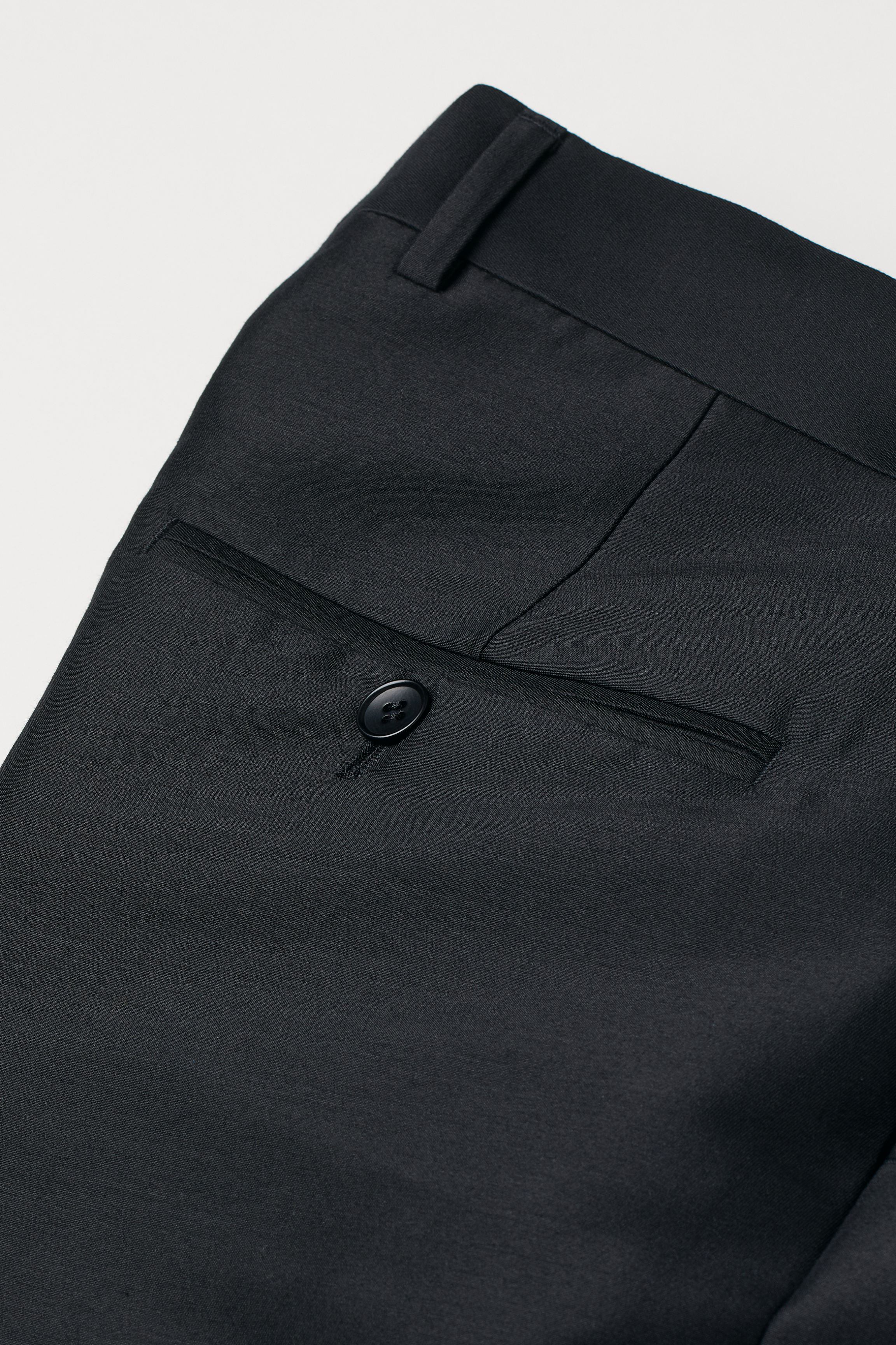 Wool-blend Tuxedo Pants
