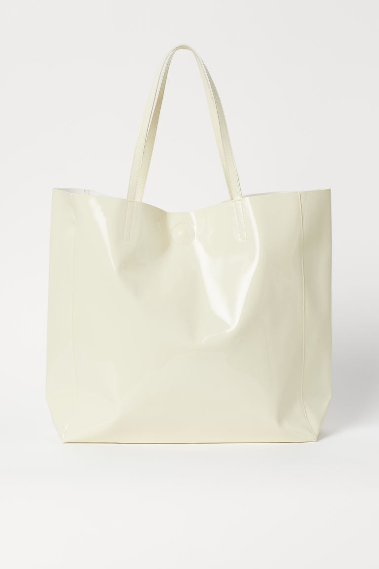 Large Shopper - Light yellow - Ladies | H&M AU