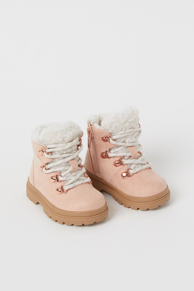 Pile-lined boots - Powder pink - Kids | H&M IN