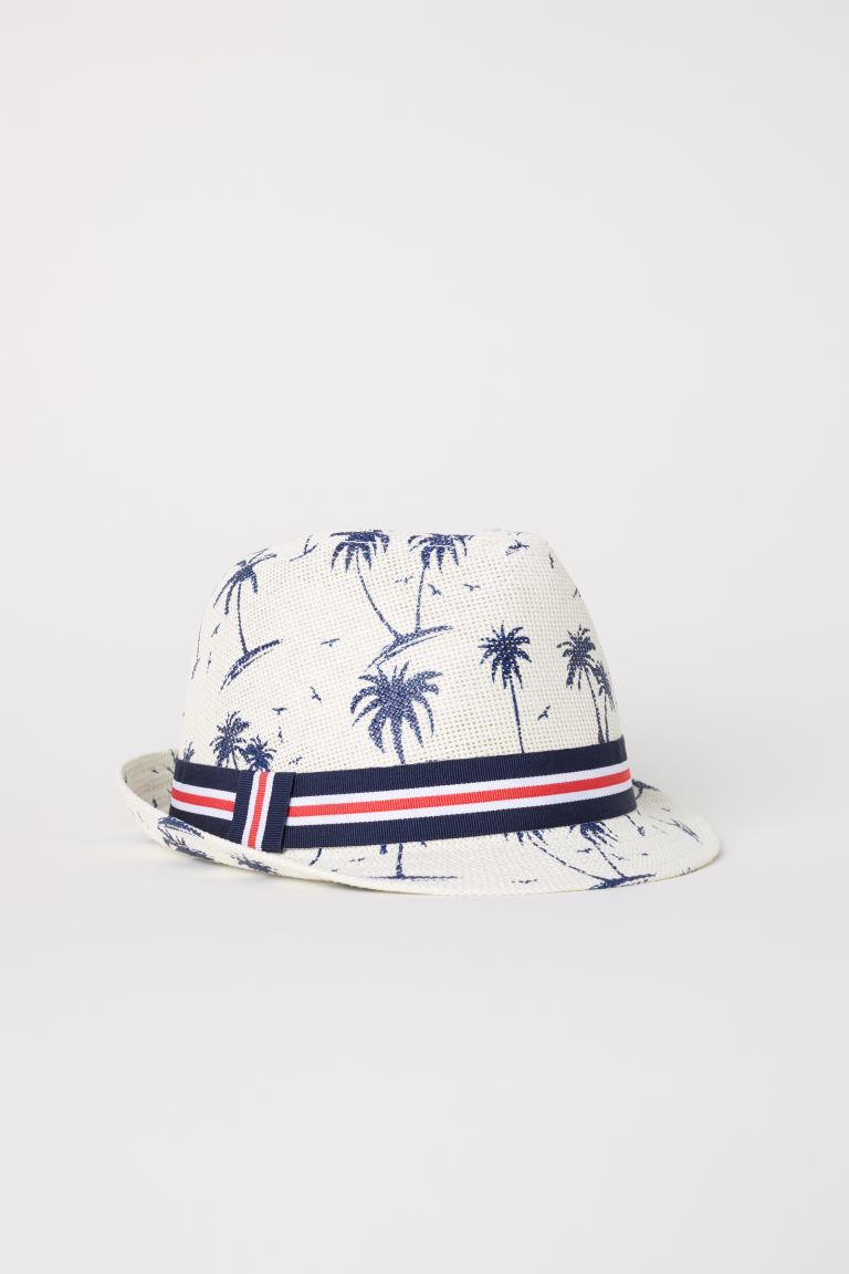 Straw hat - Natural white/Patterned - Kids | H&M GB