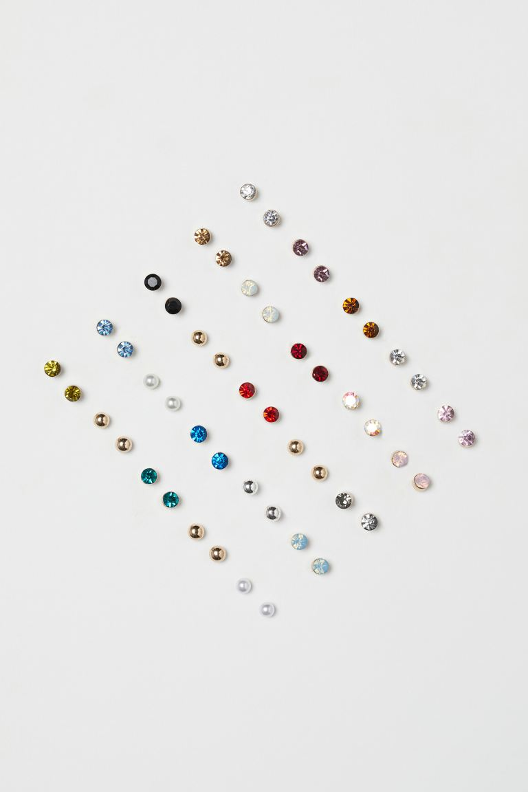 25 pairs Stud Earrings - Gold-colored/multicolored - Ladies | H&M US