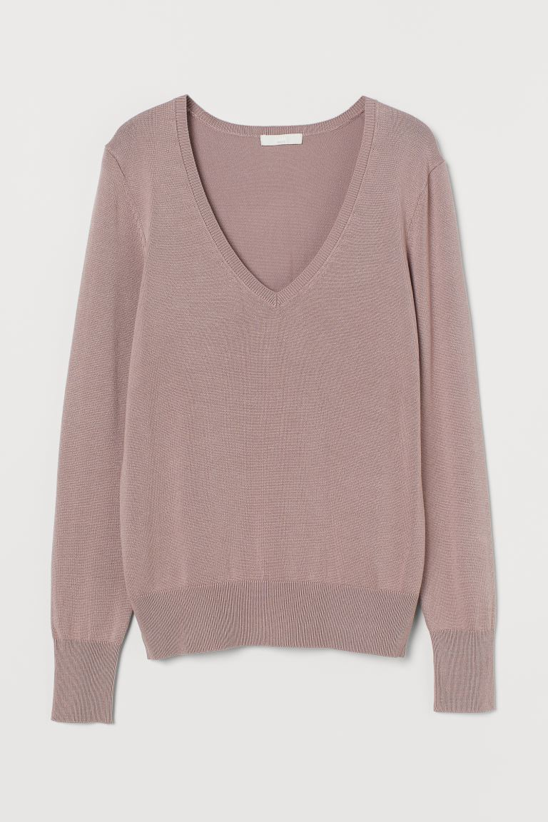 Fine-knit jumper - Pale pink - Ladies | H&M