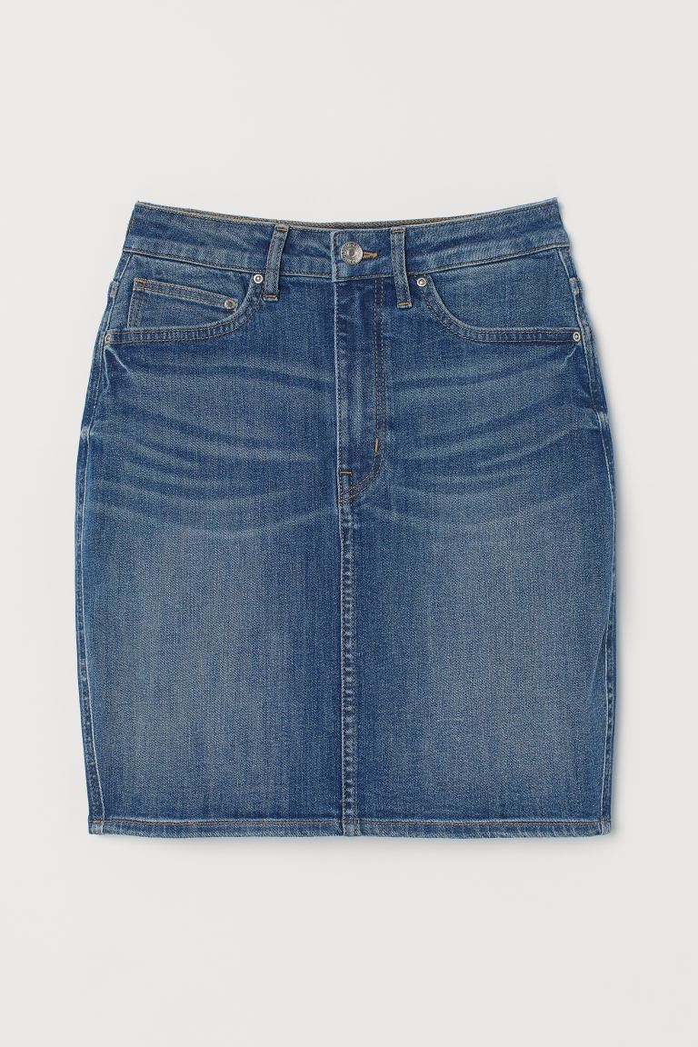 Jeansrok - Denimblauw - DAMES | H&M BE